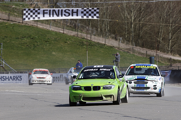 Dutch Rallycross Championship, race 1, Eurocircuit Valkenswaard, 12 april 2015 #13 Martijn Vanhove BMW 1M
